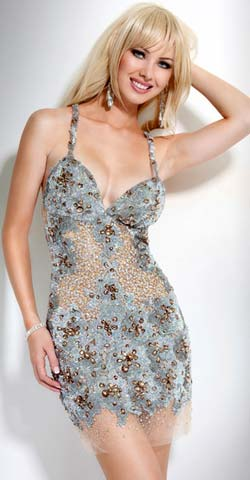 vestidos de fiestas con encaje