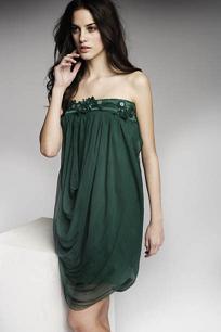 vestidos elegantes color verde