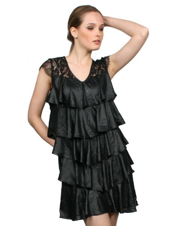 modelo de vestidos con capas