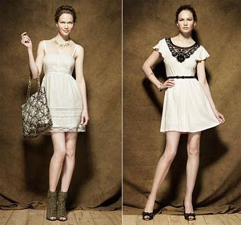 vestidos largos y cortos color blanco