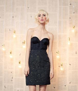 vestidos mini color negro