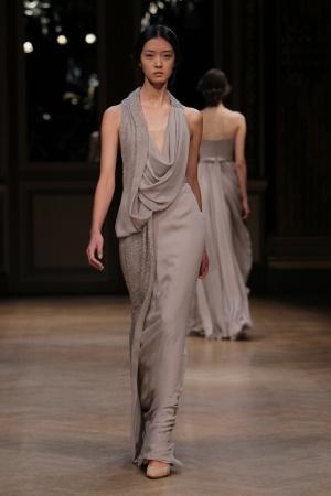 vestidos largos drapeados