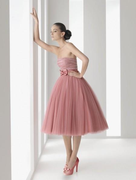 vestidos esponjosos color rosado
