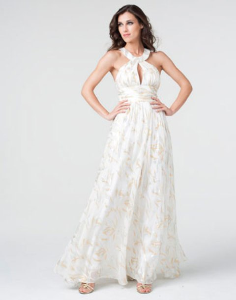 vestidos de gala color blanco