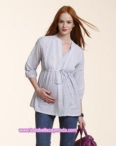 blusas sencillas de maternidad