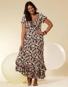 vestidos largos casuales para gorditas