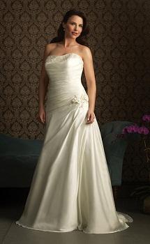 vestidos strapples de novia