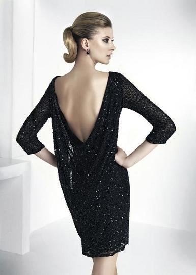 vestidos negros de lentejuelas