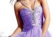 Vestidos cortos color lila