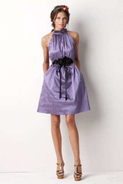 vestidos de gala color lila
