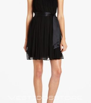 vestidos elegantes color negro