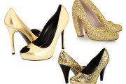 Zapatos color dorado para novias