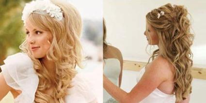 peinados sueltos para novias