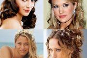 Peinados semirecogidos de novia