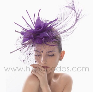 peinados con tocados