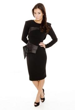 vestidos negros manga larga