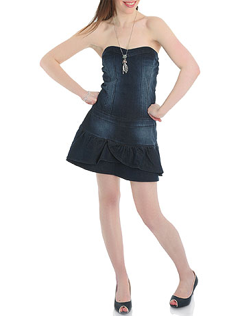 vestidos cortos de jean