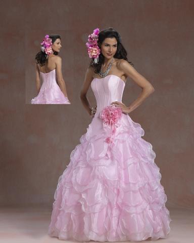 vestidos rosados de fiesta