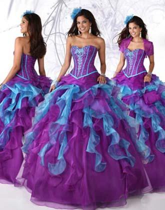 vestidos dos colores quince años