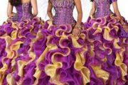 Vestidos de quince años de colores combinados