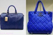 Bolsos de moda en color azul