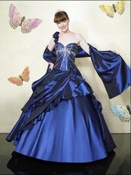 vestidos de noche color azul