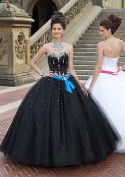 vestidos vaporosos color negro