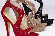 Zapatos altos y elegantes para fiesta de fin de año