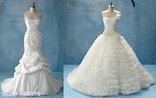 vestidos vaporosos elegantes de novia