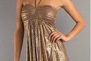 Vestidos dorados para fiestas de fin de año