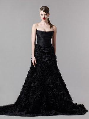 vestidos estrappless negros