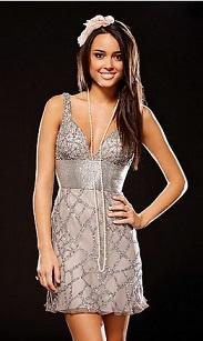 vestidos cortos brillantes