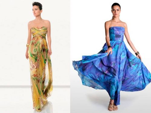 Vestidos estampados para madrinas de bodas | AquiModa.com