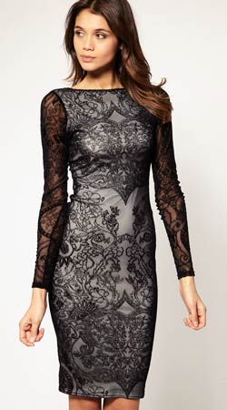 vestidos negros de encaje