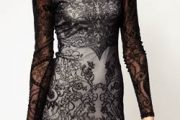 Vestidos ceñidos de encaje negro