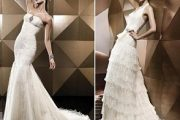 Vestidos de novia 2012 con plumas
