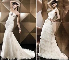 vestidos con plumas para novias