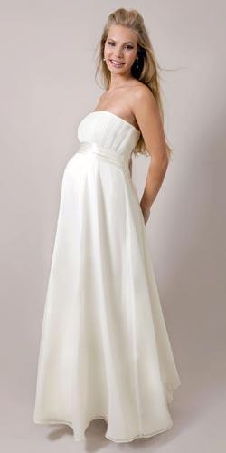 vestidos para novias embarazadas
