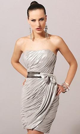 Vestidos Elegantes Plateados Cortos Aquimodacom