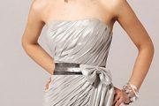 Vestidos elegantes plateados cortos