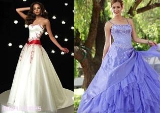 vestidos actuales de quince años