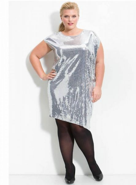 vestidos brillantes para gorditas