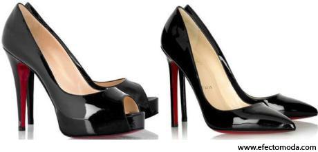 zapatos altos color negro