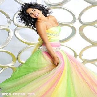 vestidos coloridos de gala