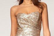 Modelos de vestidos dorados