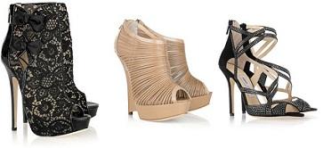 zapatos muy altos de tacón