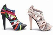 Zapatos coloridos de fiesta: Moda 2012