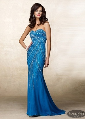 vestidos brillantes largos