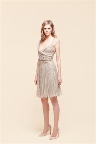 vestidos plateados
