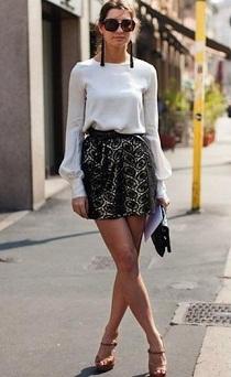 faldas cortas de moda 2012